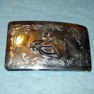 Brass horse head chrome plated belt buckle unisex vintage fashion accessories ll2095
