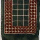 Sacha long silk scarf autumn color plaid rolled hem vintage scarves ll2173