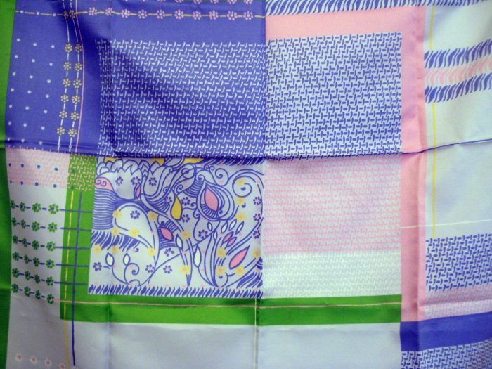 Italian polyester scarf square spring pastel colors vintage scarves ll2177
