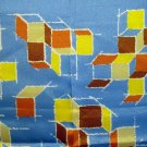 Acetate scarf modern art design stacking cubes vintage scarves ll2204