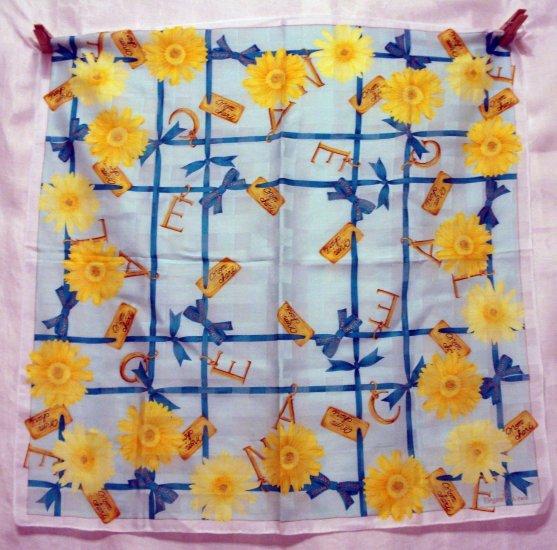 Elegance S.A. Paris cotton bandanna kerchief scarf Mon Cheri chrysanthemum ll2236