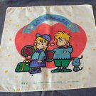 Love Mark 1985 child's hanky by Denz all cotton vintage ll2292