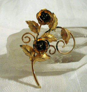 Bond Boyd Sterling roses pin brooch 1950s vintage superior condition ll2314