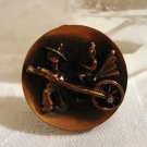 Copper clip on earrings rickshaw and driver vintage ll2331