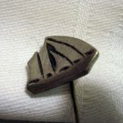 Pewter sailboat stick pin with cap signed Amos / NS unisex vintage ll2340