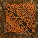 Animal print paisley scarf large polyester square dramatic excellent vintage ll2450