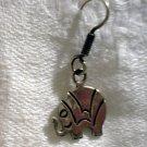 Elephant pierced earrings sterling silver Mexico 925 ear wires vintage ll2453