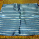 Pinstripe silk hanky or pocket puff Italy excellent vintage ll2487