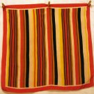Striped silk square scarf Jacob's coat excellent vintage  ll2499
