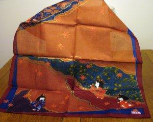 Japanese kimono print cotton bandanna scarf little girls perfect unused with tag ll2578