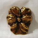 Jeri Lou pansy scarf clip brass tone excellent vintage ll2628