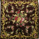 Large Italian silk scarf floral jacquard Art Deco style floral unused vintage ll1745