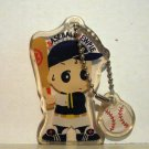 Baseball Kewpie vinyl key chain batter and baseball cute pre-owned ll2687