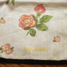 Guy Laroche cotton scarf or bandana roses rolled hem very good vintage ll2699