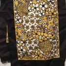 1960s Flower power mosaic acetate scarf neutral colors very good vintage ll2727