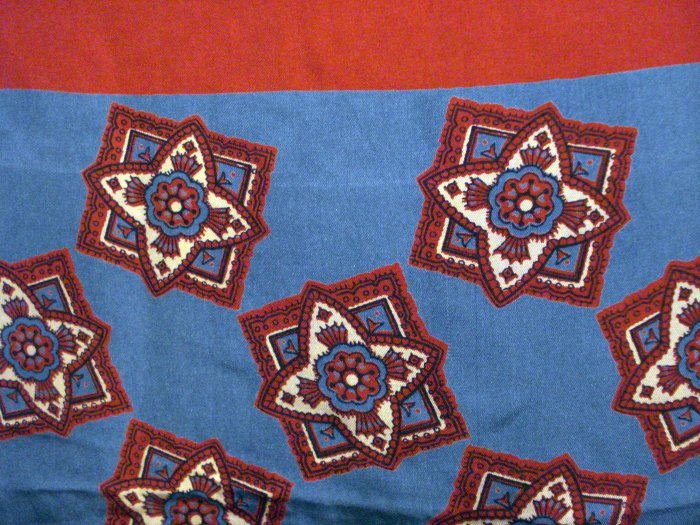 Stars on squares silk scarf large square blue burgundy excellent vintage ll2755