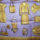 Collection XIIX leopard print clothing on lilac silk scarf  as new vintage ll2781