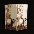 Panda printed satin wallet ID change bills spaces unused ll2785