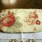 Maggie B clutch purse cosmetics bag wipe clean lining muted floral unused ll2813
