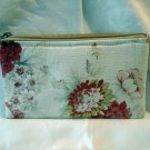 Maggie B cosmetics bag wipe clean lining muted floral unused ll2830