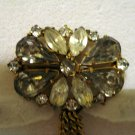 Rhinestone pin brooch with chandelier drops Victorian look dramatic vintage ll2875
