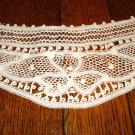 Cowl-necked Battenburg lace collar white preowned ll2909