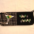 MaggiB Apple Martini wristlet purse or pencil case bangle hanger black excellent pre-owned ll2922