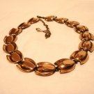 Renoir copper necklace tulip motif extender chain signed as new vintage ll2946