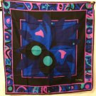 Pierre Cardin Paris polyester square scarf 30 inches butterfly on flower Exc  vintage ll2964