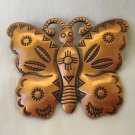Copper butterfly pin brooch Southwest motifs as new Bell Trading Post ll2967