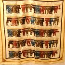 Daniel Hechter hanks of yarn polyester scarf large square excellent vintage ll3078