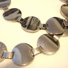 Chrome plated discs metal chain belt 28-37 inches vintage ll3080