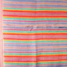 Liz Claiborne long silk scarf horizontal narrow stripes excellent vintage ll3130