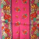 Liz Claiborne long silk scarf purple magenta floral preowned ll3143