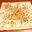 Pierre Cardin floral cotton kerchief small scarf unused with tags ll3154