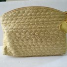 Quilted hearts gold metallic cosmetics wash bag still in package ll3193