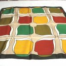 Balz Baechi silk scarf very rare designer signed bold colors 1970s vintage ll3278