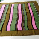 Kreier bands of color silk scarf 26 inches square rolled hem vintage ll3328