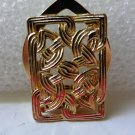 Celtic knot gold tone scarf clip braided rectangular vintage ll3337