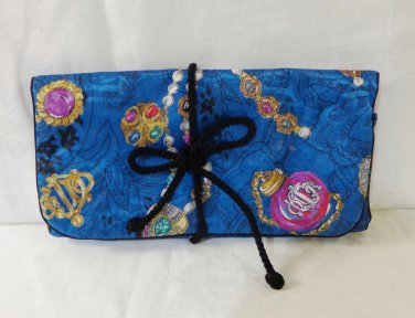Christian Dior padded travel jewelry case jewels on blue as new ll3354