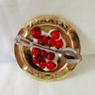 Mimi ShulmanTokens of Gilt Berries and cream figural pin brooch dish spoon ll3365