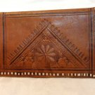 Hand tooled and laced deerskin wallet unisex vintage ll3416