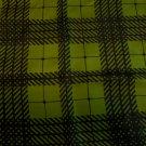 Loden green black silk scarf Kreier herringbone rolled hem vintage ll3430