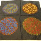 Man's pocket puff handkerchief Abbey silk 4 way paisley rolled hem excellent ll3463