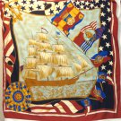 Tall ships large scarf to wear or hang unisex vintage clipper ship ll3466
