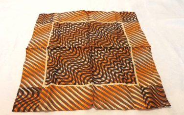 Man's pocket puff or small scarf silk stripes rolled hem excellent ll3468