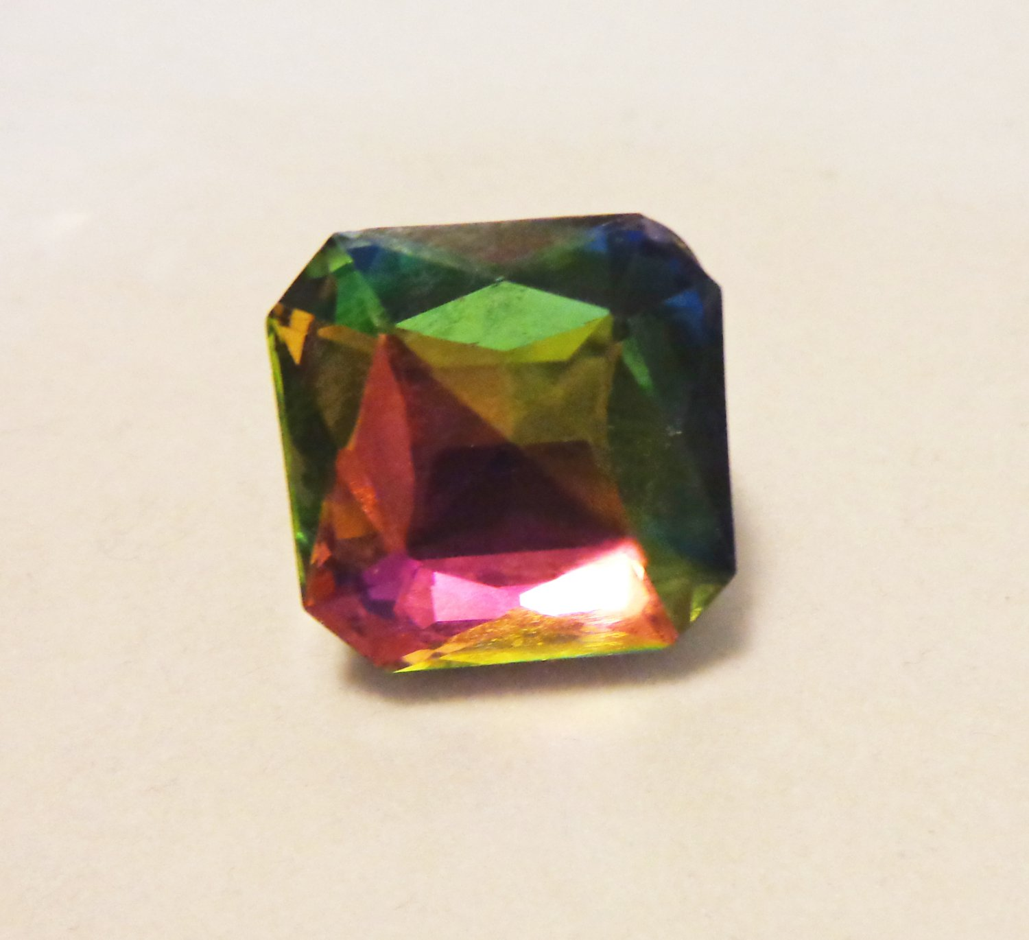 Fake mystic topaz party ring large stretch band ll3477