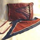 Naturalizer tri-color leather shoulder bag and Vera bias cut scarf burgundy both vintage ll1594