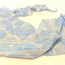 Jacob bias cut long scarf med. blue white floral 64 inches synthetic vintage ll3499