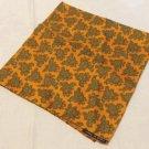 Cantini's silk pocket puff scarf paisley 17 x 18 inches hand rolled hem burnt orange ll3527